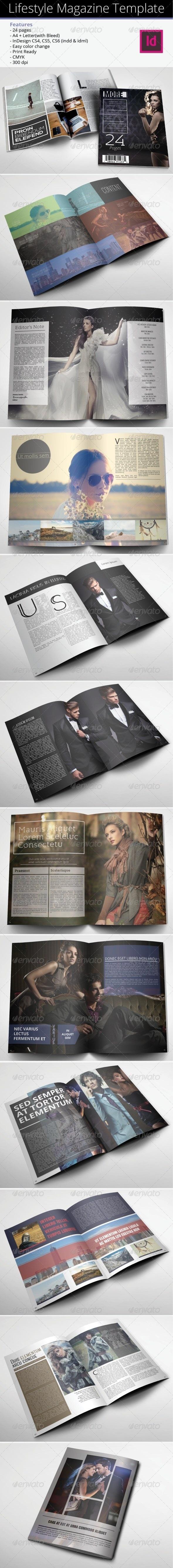 Lifestyle Magazine Template - Magazines Print Templates