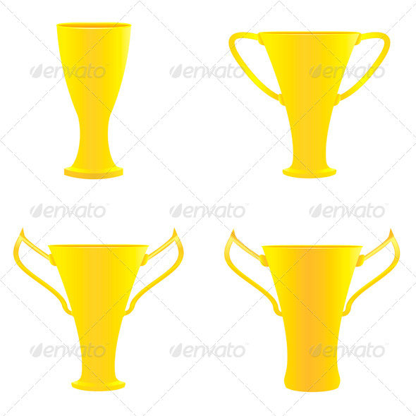 Champion Golden Trophies - Miscellaneous Vectors