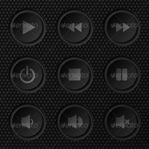 Navigation Button Set - Web Technology