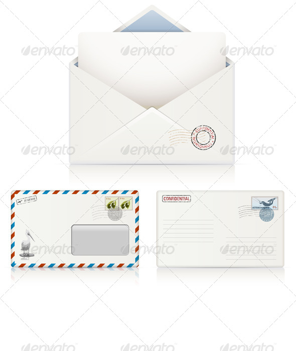 Postal Envelopes - Business Conceptual