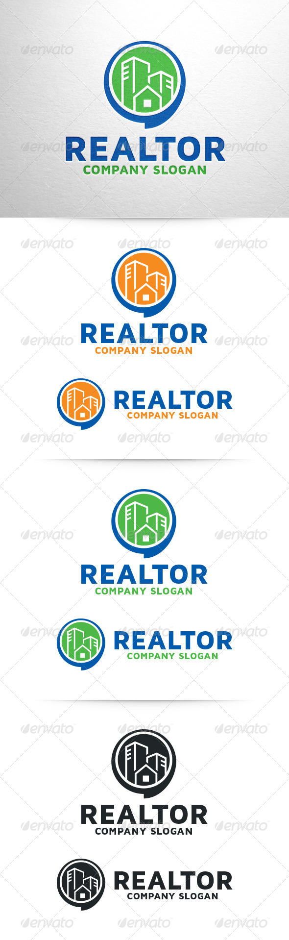 Realtor Logo Template - Buildings Logo Templates