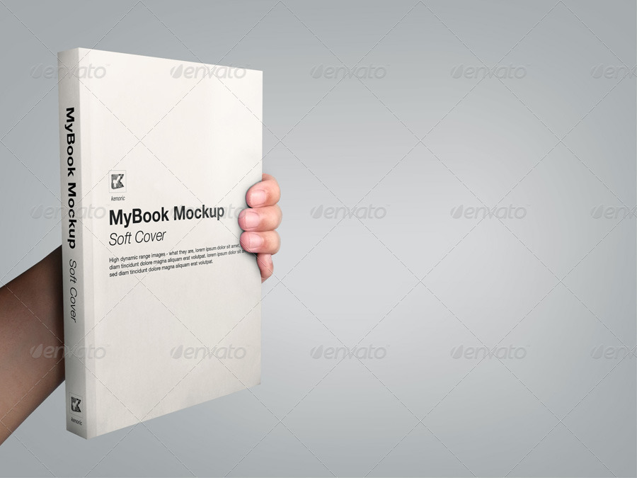 Soft Cover Book Mockup Template ~ Soft cover mock up by kenoric graphicriver