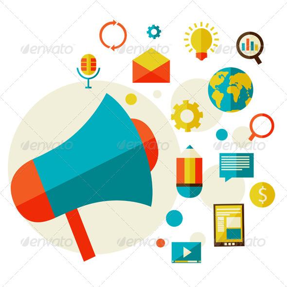 Digital Marketing Concept - Web Technology