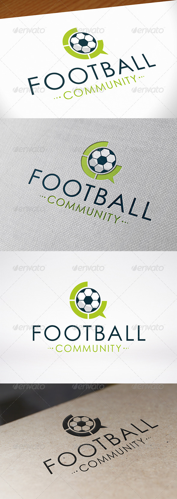 Football Chat Logo Template - Objects Logo Templates