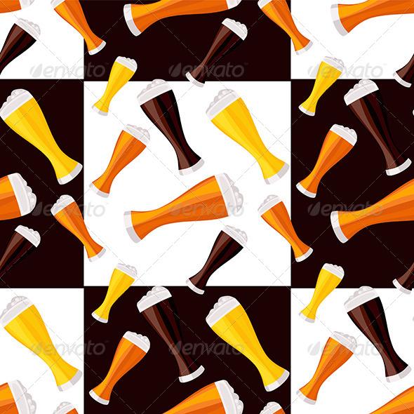 Beer Seamless Pattern - Patterns Decorative