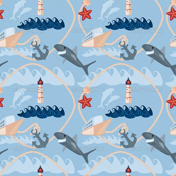 Sea Seamless Pattern - Patterns Decorative