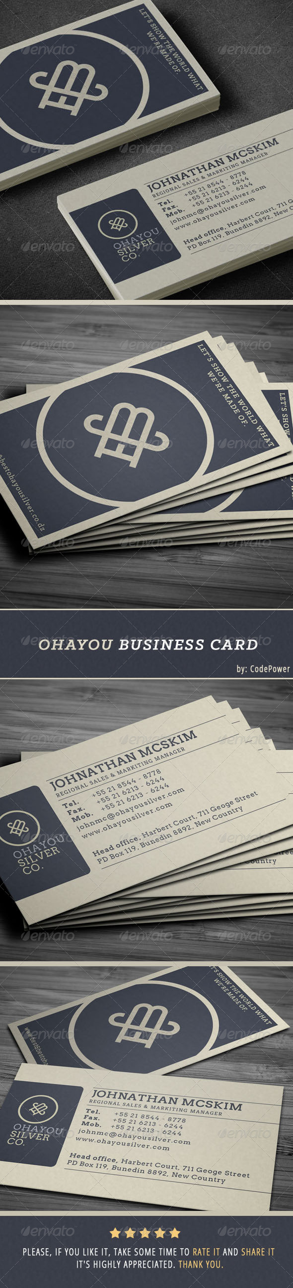 Ohayou Business Card - Corporate Business Cards
