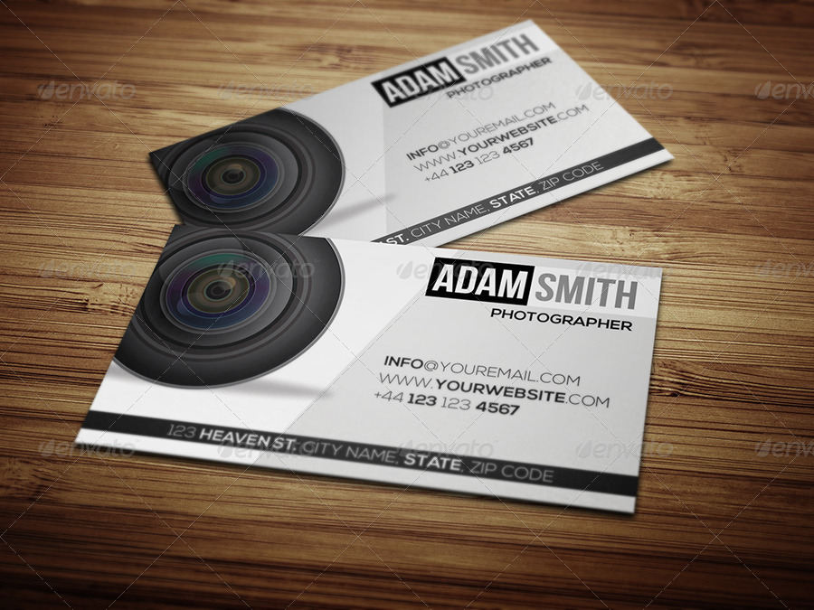 Professional Photography Business Card by Taeef | GraphicRiver