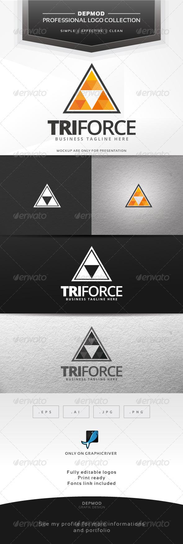 Tri Force Logo - Abstract Logo Templates