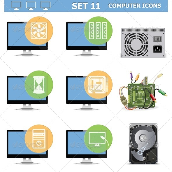 Computer Icons Set 11 - Computers Technology