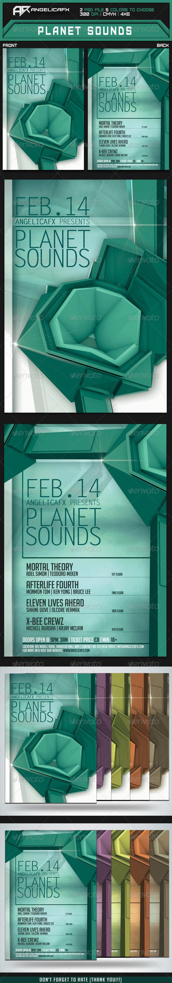 Planet Sounds Flyer Template - Flyers Print Templates