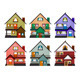 Front View of Various Modern Houses - GraphicRiver Item for Sale