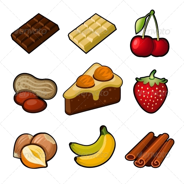Chocolate Icons Set - Food Objects