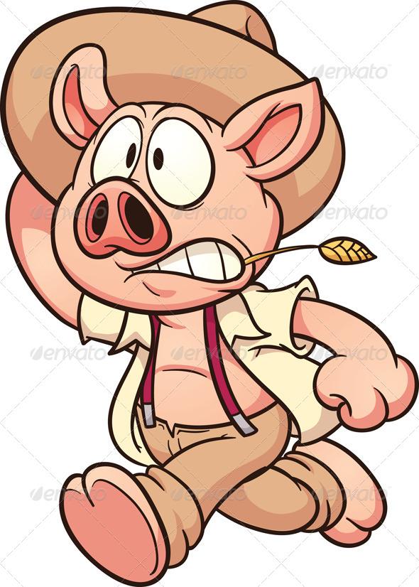 Running Pig - Animals Characters