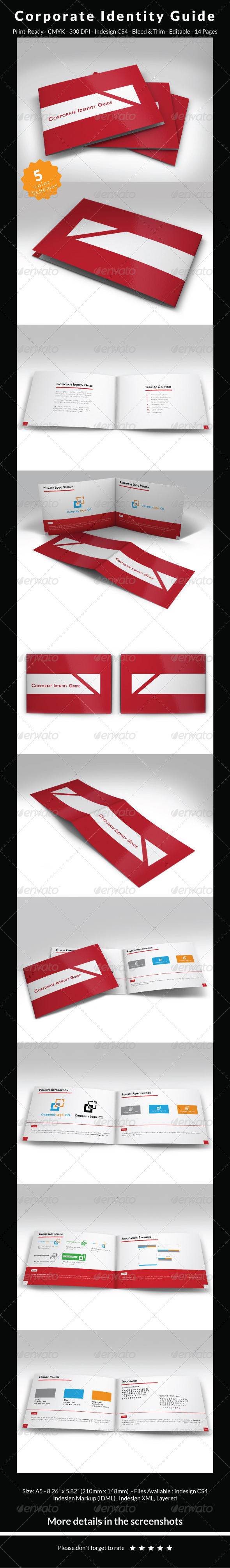 Corporate Identity Guide Template - Miscellaneous Print Templates