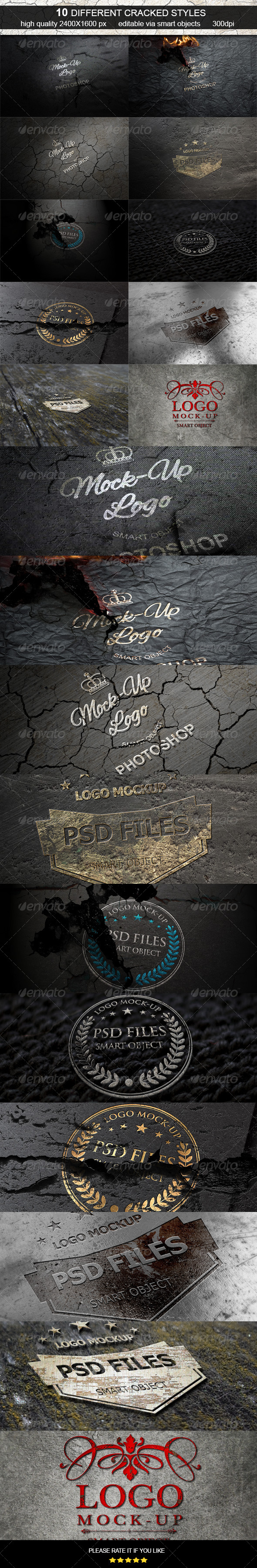 Cracked Logo Mock-Up  - Logo Product Mock-Ups