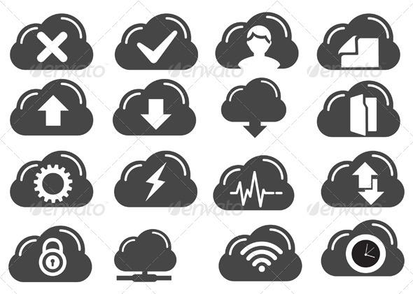 Cloud Services Icon - Technology Conceptual