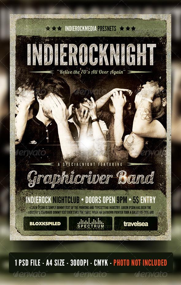 Rock / Indierock / Vintage Concert Flyer / Poster By Fadeink
