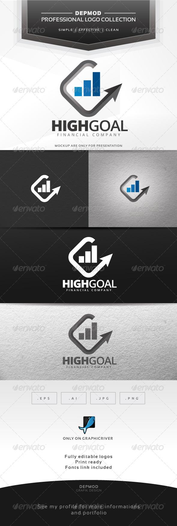Reach Goal Logo - Symbols Logo Templates