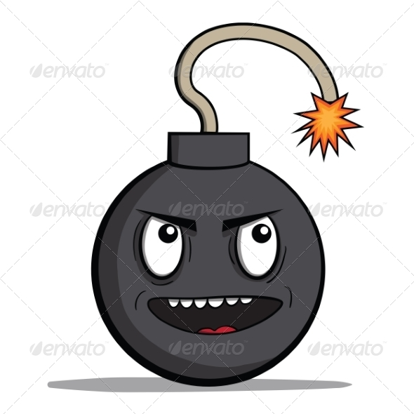 Evil Cartoon Bomb Ready to Explode - Miscellaneous Characters