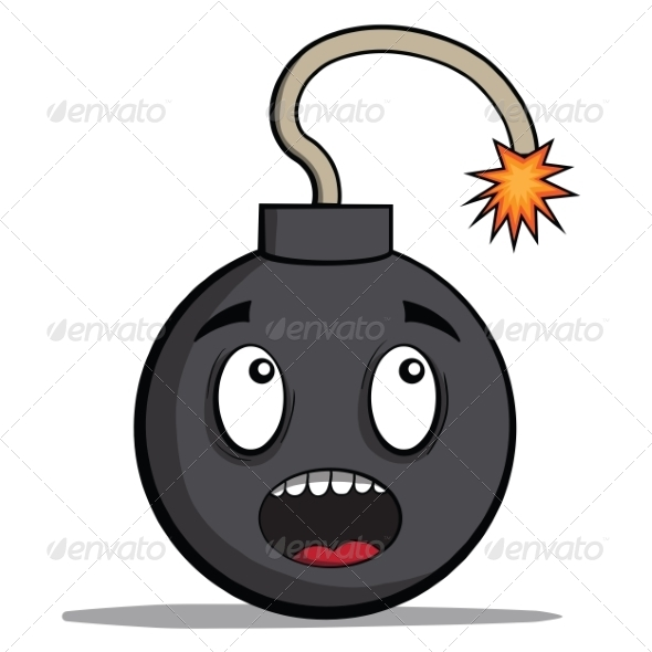 Cartoon Bomb Ready to Explode - Miscellaneous Characters