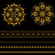 Collection of Gold Patterned Borders and Items - GraphicRiver Item for Sale