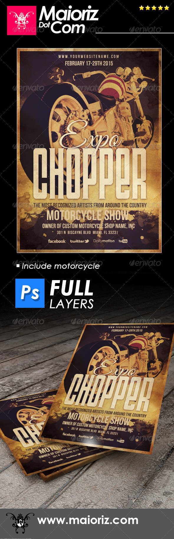 Indie Chopper Flyer - Miscellaneous Events