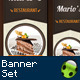 Restaurant and Coffee Banner Set - GraphicRiver Item for Sale