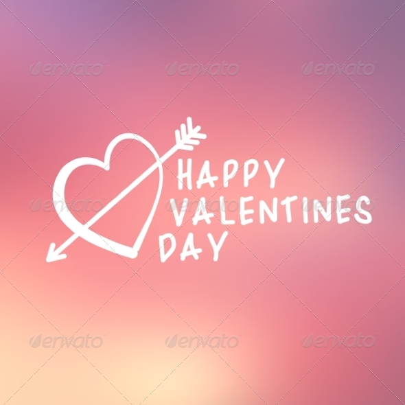 Abstract Background with Text for St. Valentine's  - Valentines Seasons/Holidays