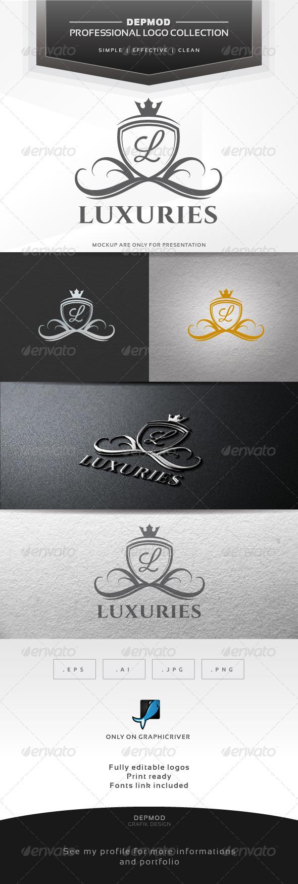 Luxuries V.02 Logo - Crests Logo Templates