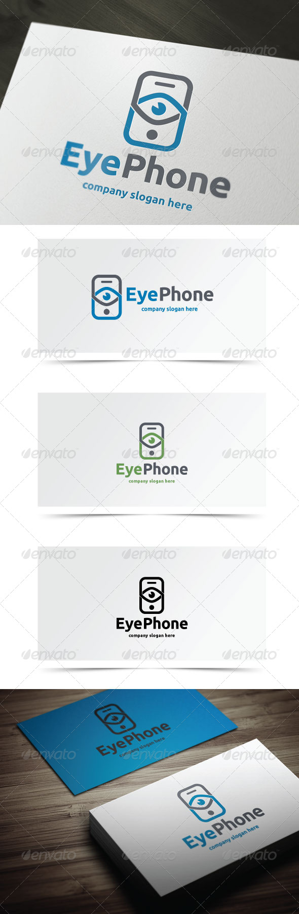 Eye Phone - Objects Logo Templates