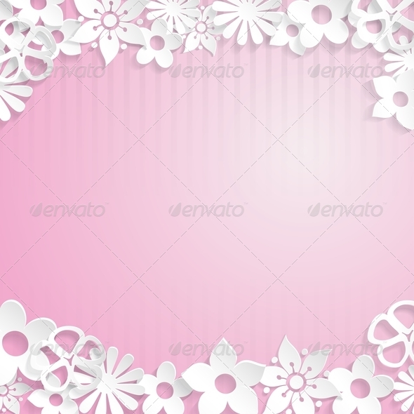 Background with paper flowers by 31moonlight31 graphicriver background with paper flowers backgrounds decorative mightylinksfo