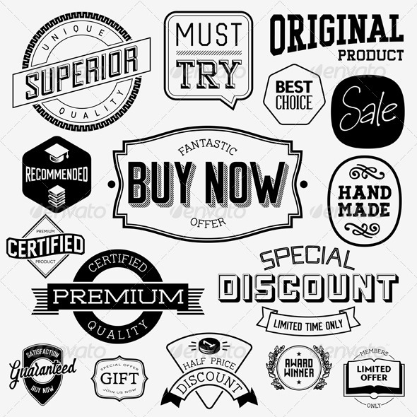 Vintage Badges and Labels - Miscellaneous Vectors