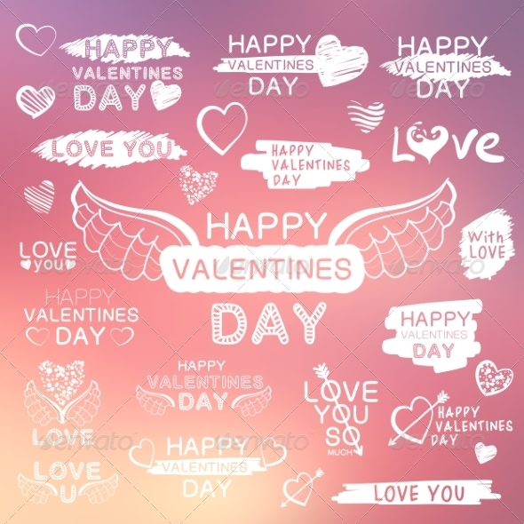 Abstract Background with Texts for Love Confession - Valentines Seasons/Holidays