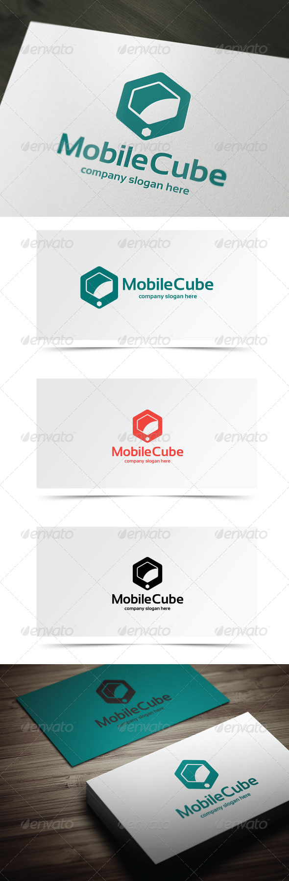 Mobile Cube - Objects Logo Templates