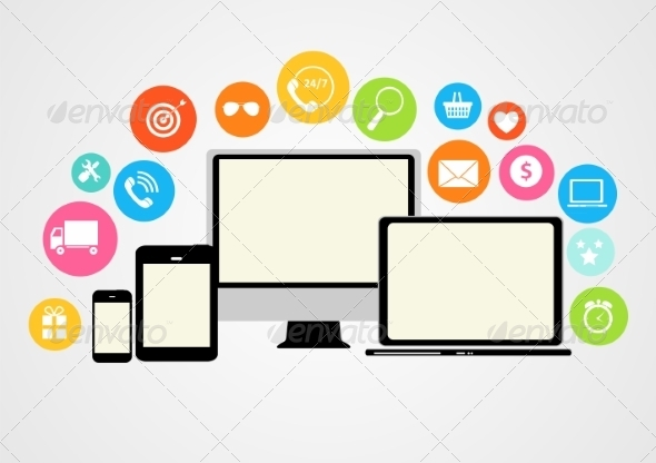 Cloud Computing Concept on Different Devices - Web Technology