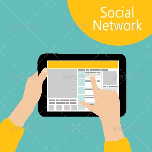 Using Social Network Concept Flat  - Web Technology