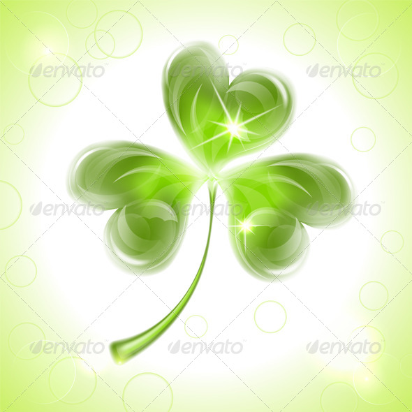 Leaf Clover on St. Patrick's Day - Seasons/Holidays Conceptual