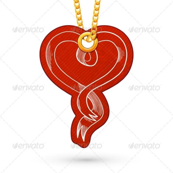 Heart Ribbon. - Miscellaneous Seasons/Holidays