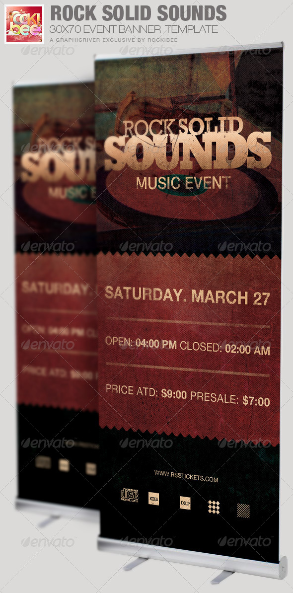 Rock Solid Sounds Banner Signage Template - Signage Print Templates