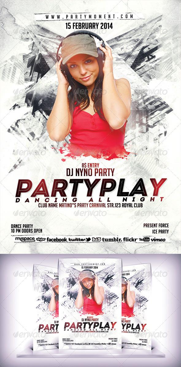 PartyPlay Flyer - Flyers Print Templates