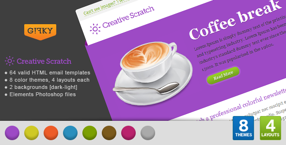 Free Download Creative Scratch Email Template Nulled Latest Version