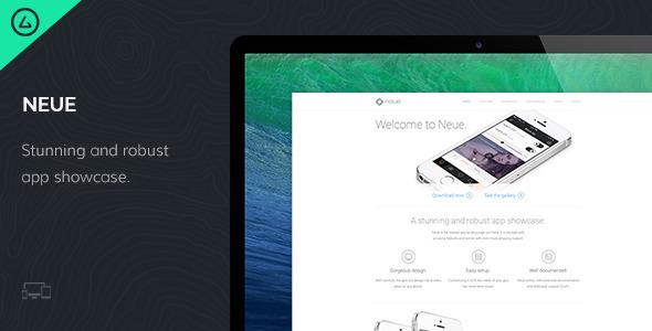 Neue – App Landing Page