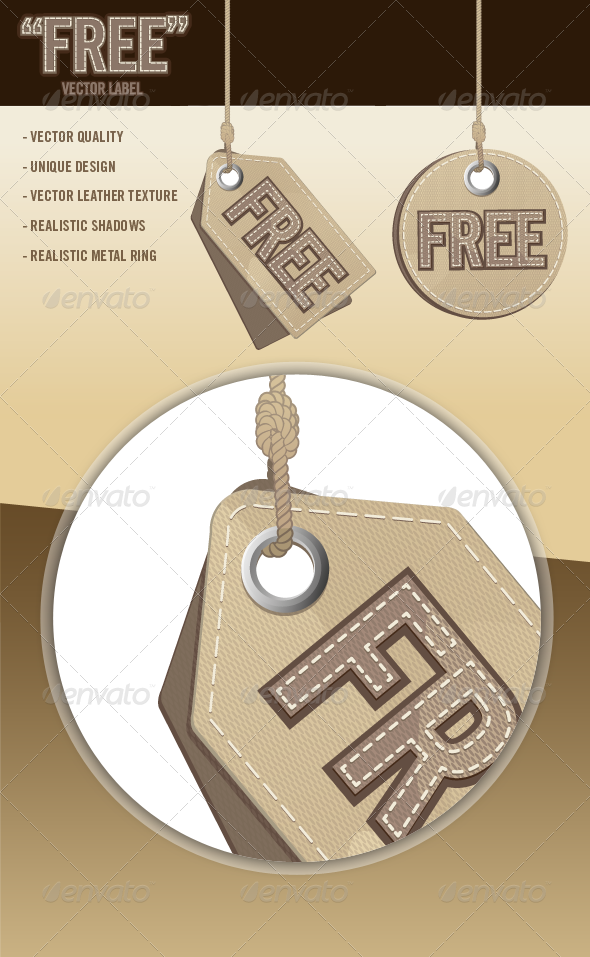 """Free"" Vector Labels - Commercial / Shopping Conceptual"