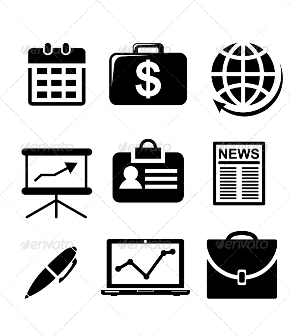 Set of Business Icons - Web Elements Vectors