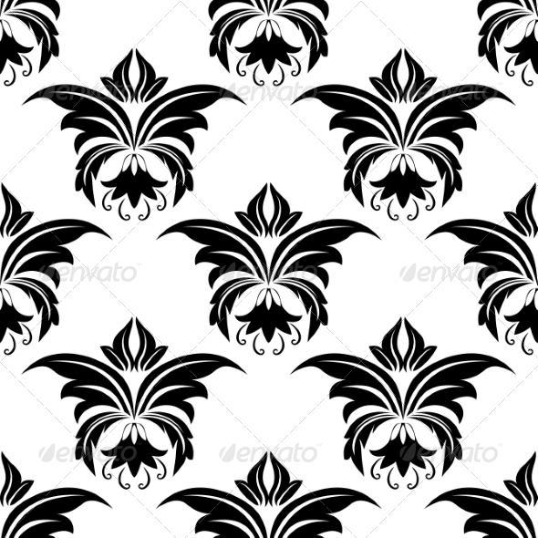 Seamless Floral Arabesque Pattern - Patterns Decorative