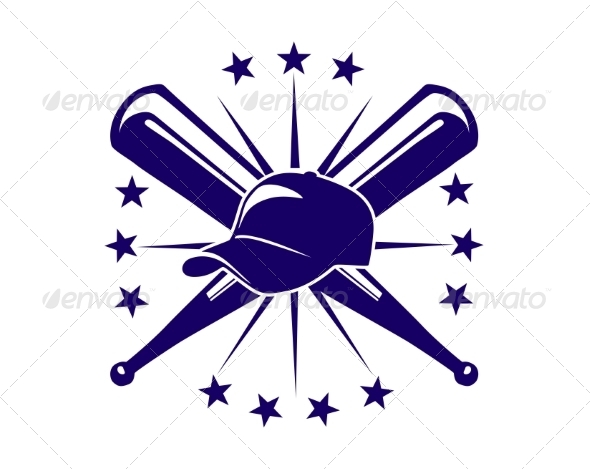 Baseball Icon or Emblem - Sports/Activity Conceptual