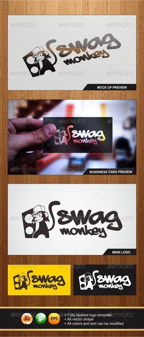 Swag Monkey Logo - Animals Logo Templates