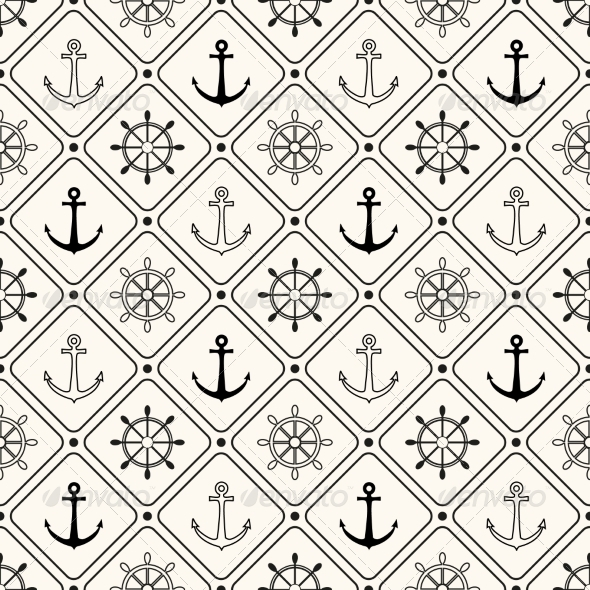 Vector Seamless Retro Pattern - Patterns Decorative