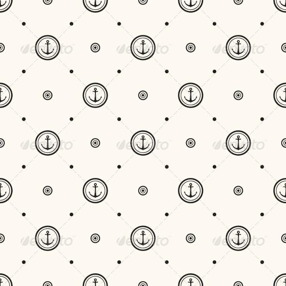Vector Seamless Retro Pattern - Patterns Decorative